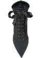 Dolce&Gabbana Bottines de talons aiguilles pour femme en tissu technique noir