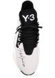 Y-3 Baskets pour homme en tissu technique noir/blanc Semelle en caoutchouc