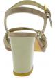 Stuart Weitzman Sandales àtalons hauts pour femme en cuir suédé beige