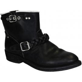 Boots Golden Goose pour femme en cuir noir