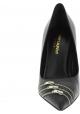 Saint Laurent Escarpins pointu à talons aiguilles pour femme en cuir noir