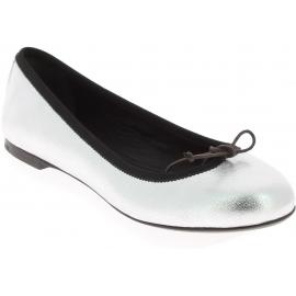 Saint Laurent Ballerines Chaussures pour femme en cuir de veau laminé noir