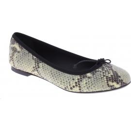 Saint Laurent Ballerines Chaussures pour femme en cuir de python gris