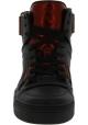 Gucci Baskets Montantes à lacets pour femme en cuir noir avec détails rouges