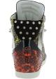 Barbara Bui Baskets Montantes cloutées femme en peau de reptile multicolore