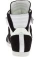 Barbara Bui Baskets Montantes à lacets pour femme en cuir suédé noir blanc