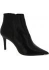 Barbara Bui Bottines pointues à talons hauts fashion pour femme en cuir noir