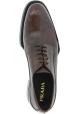 Prada Oxford chaussures à lacets pour famme en cuir de veau marron foncé