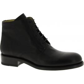 Jean-Baptiste Rautureau Bottines chaussures pour hommes à lacets en cuir noir