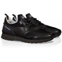 Baskets Hogan sneakers homme en cuir et tissu noir