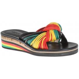 Nu-pieds Chloé pour femme en cuir multicolore