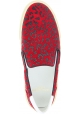 Saint Laurent Chaussures à enfiler sans lacets léopard pour femme cuir rouge
