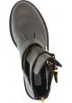 Steve Madden Bottines pour femmes en piel marron foncé avec zip et boucles
