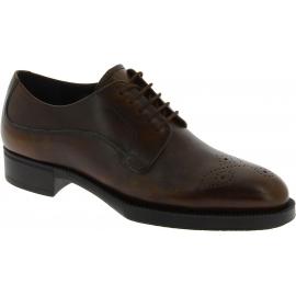Prada Chaussures à lacets Oxford à la mode pour femme en cuir de veau marron